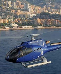 Helicopter transfer from Nice to Monaco Sunday, May 23, roundtrip 4